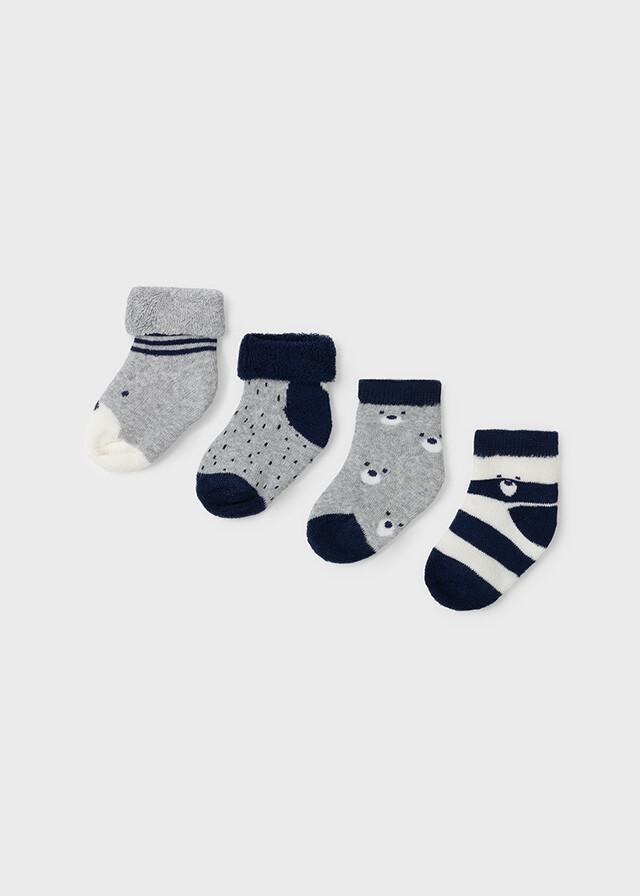 Mayoral Baby Boy Navy 4 Pc Socks Sets 9421