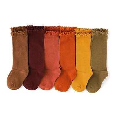 Little Stocking Fall Lace Top Socks
