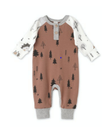Tesa Babe Boys Forest Critters L/S Henley Romper