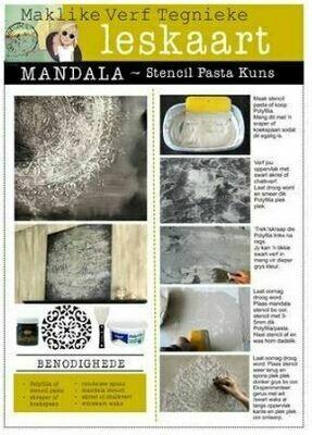LESKAART: Mandala Stencil Kuns