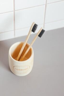 Зубная щетка из бамбука (1 шт., средняя жесткость)