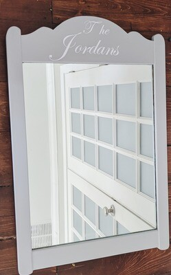 Personalized Wood Mirror
