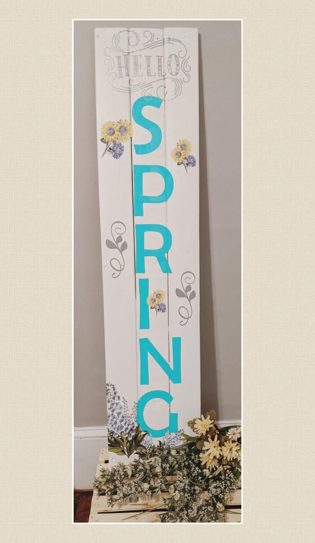 Hello Spring Sign