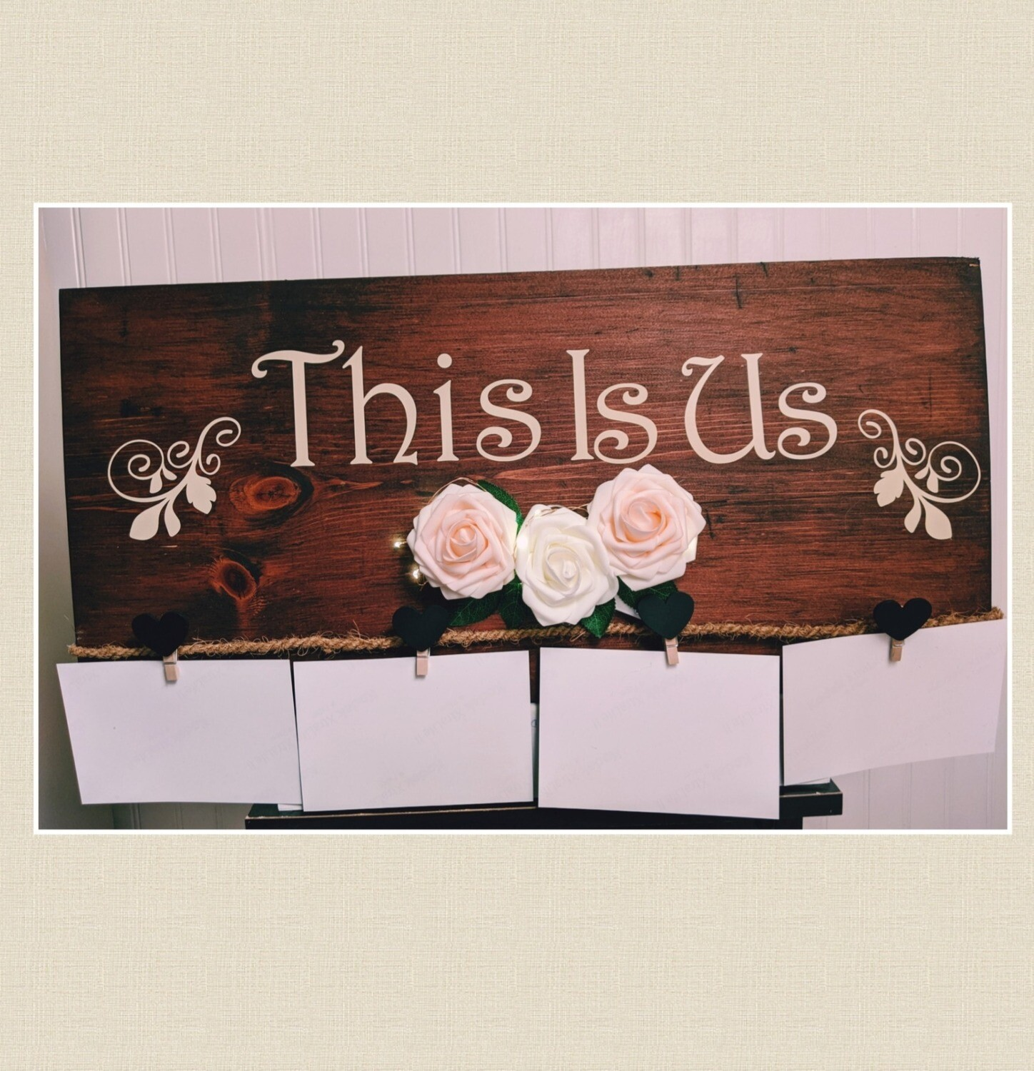 Handmade Wood sign-Picture Holder
