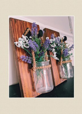 Mason Jar Wall Sconces-Lavender