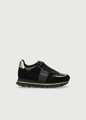 LIU JO Sneakers  Wonder Maxi 13 suede spreadin Black