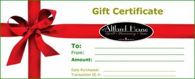 $25 Altland House Gift Certificate