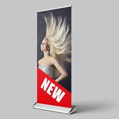 Deluxe Roll Up Display 85x200 cm, einseitig bedruckt