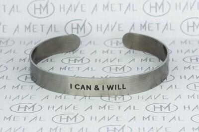 """Браслет стальной """"I can & I will"""" 9x175mm (men)"""