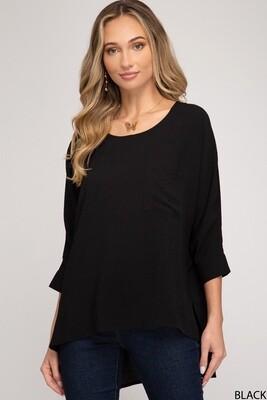 Black Dolman Sleeve