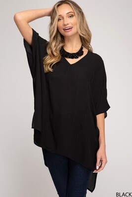 Black Oversized Day Top