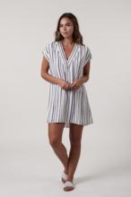 Mari Navy Stripe Dress