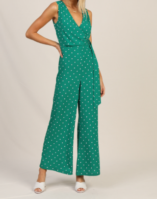 Polka Dot Print Jumpsuit
