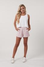 Pink Stripe Boxy Shorts
