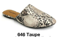 Taupe Snake Mules