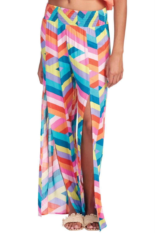 Multi Color Pant W/ Slit