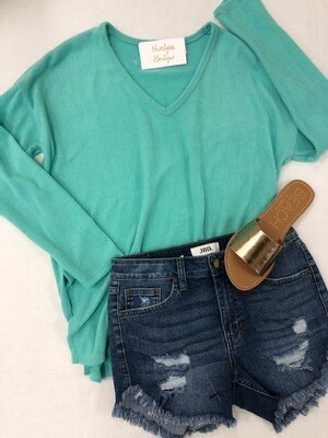 Cozy Nights Spring Mint Top