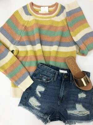 Transition Accent Striped Sweater