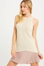 Liz Sleeveless Sweater Shell