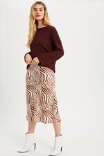 Remi Raw Hem Merlot Sweater