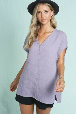 Evelyn Relaxed Gauze Top