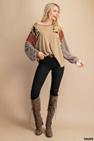Paisley Taupe Top