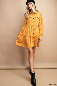 Lucy Mustard Dress