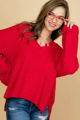 Charlotte Red Sweater