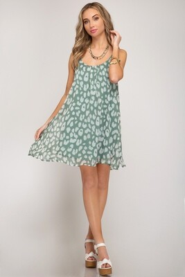 Slate Animal Print Cami Dress
