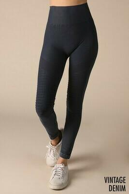 Vintage Denim Leggings