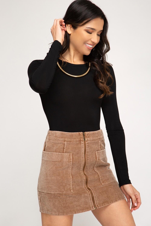 Khloe Camel Skirt
