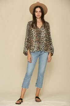 Jade Leopard Long Sleeve
