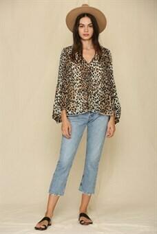 Jade Leopard Long Sleeve