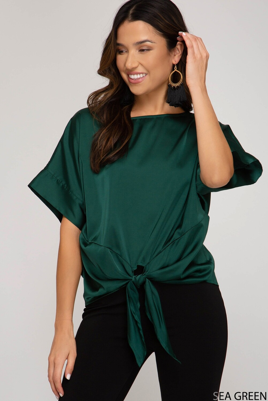 Jasmine Sea Green Top