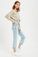Claire Boat Neck Leopard Sweater