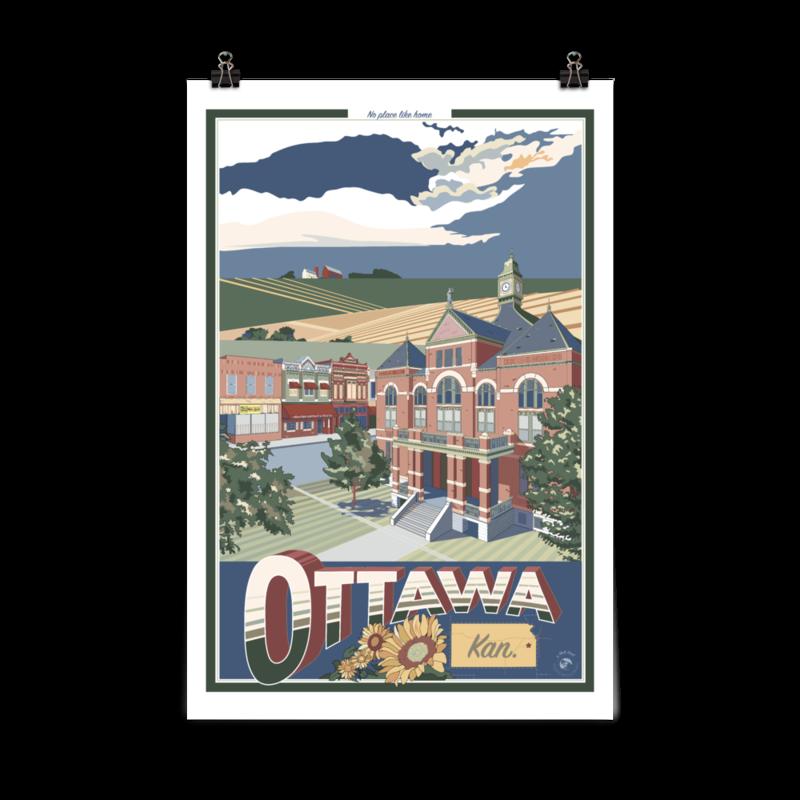 Ottawa, Kansas Poster