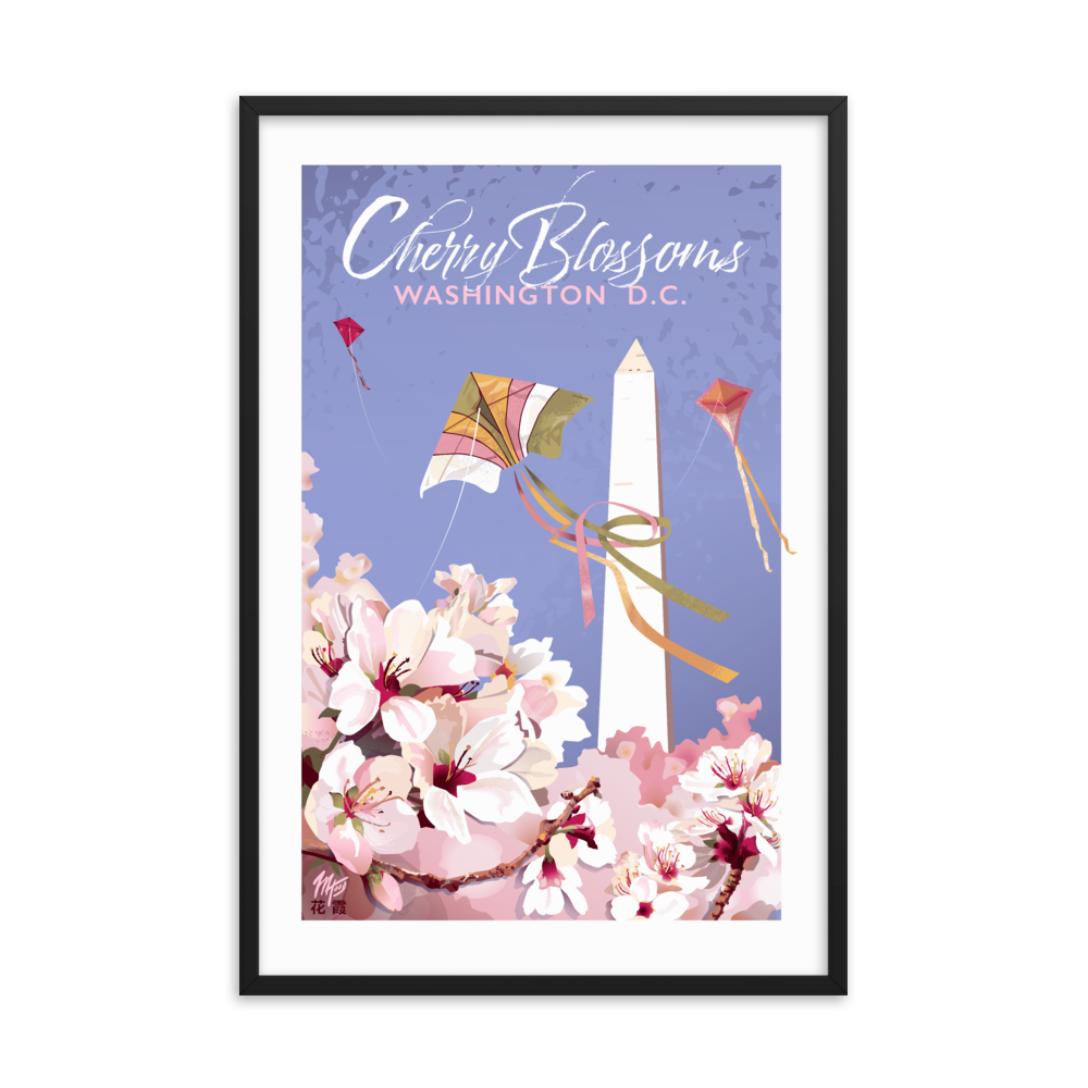 Framed Cherry Blossoms