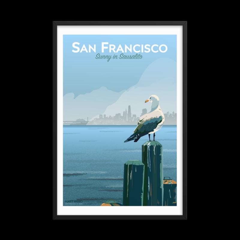 Framed Sausalito Poster