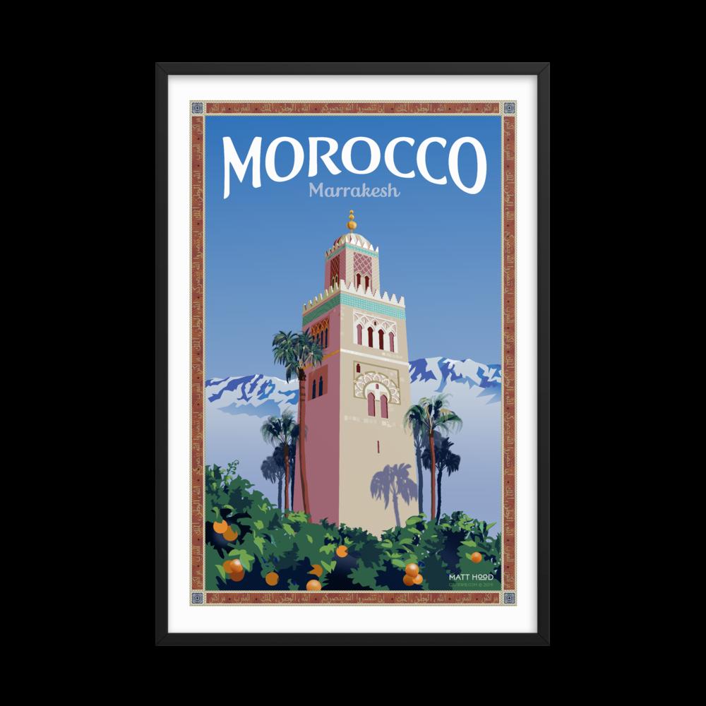 Framed Marrakesh Poster
