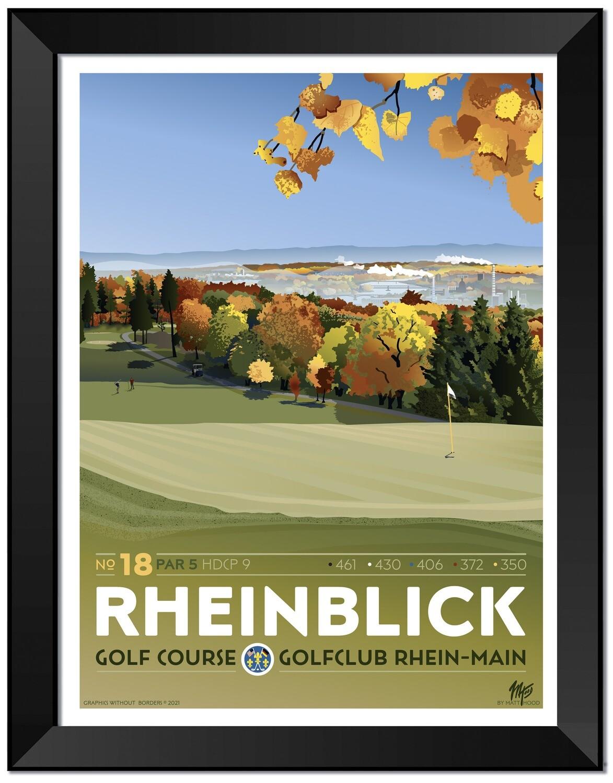 Rheinblick Golf Course - Framed