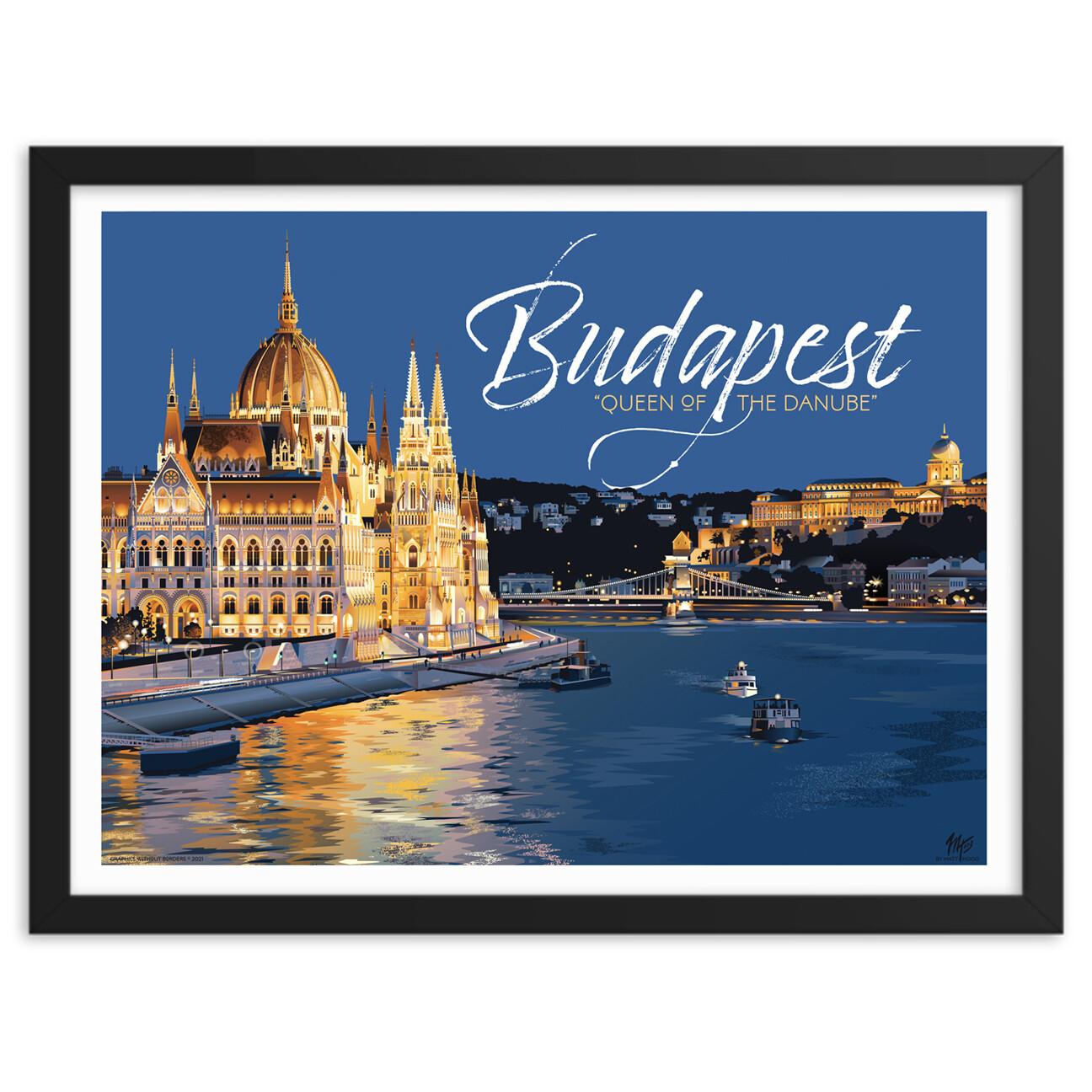 Budapest: Queen of the Danube (framed)