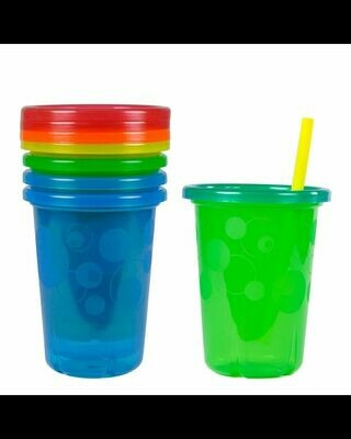 The First Years Take and Toss Spill-Proof Straw Cups - 4 Count