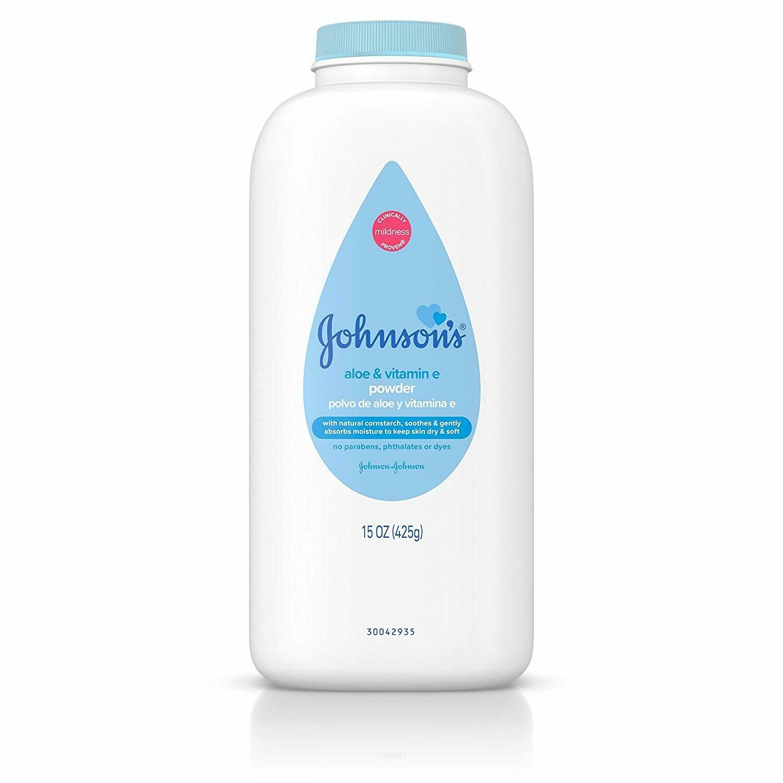 Johnson's Baby Powder - Aloe & Vitamin E, 15 oz