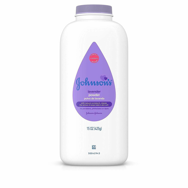 Johnson's Lavender Baby Powder, Hypoallergenic and Paraben Free, 15oz
