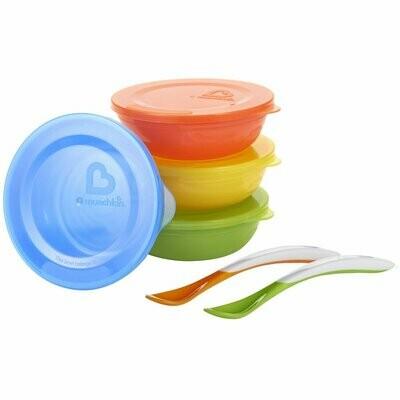 Munchkin Love-a-Bowls 10 Piece Feeding Set, Colors May Vary