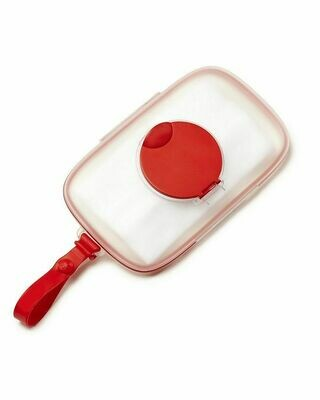 Skip Hop On-the-Go Snug Seal Baby Wipes Case, Red