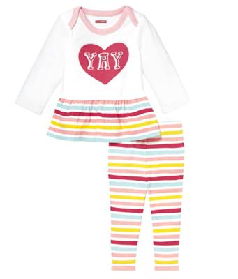 Skip Hop Baby Says Long Sleeve Tunic and Legging, Yay, NB