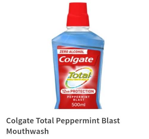 Colgate Total Peppermint Blast Mouthwash 500ml
