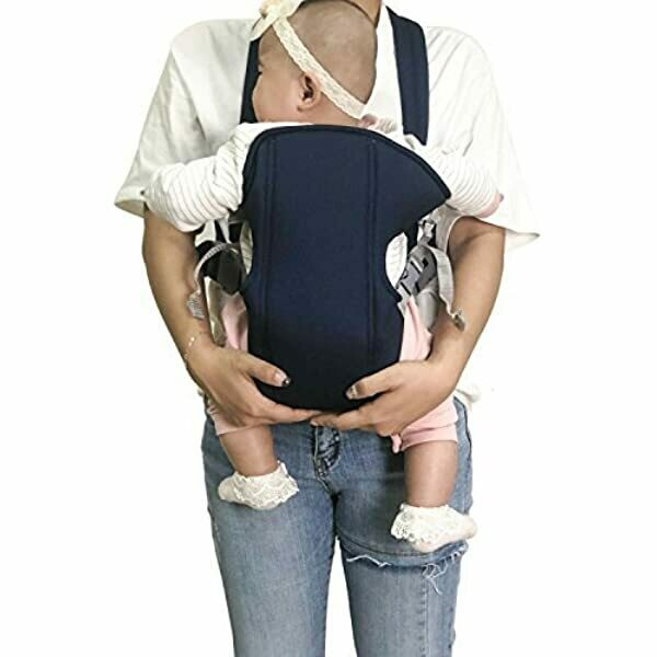 Pomeat Breathable Flip Baby Carrier Backpack with Removable Cushion,Infant Carrier,0-16 Months, Navy