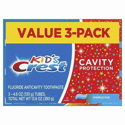 Crest Kid's Toothpaste, 4.6 ounces, Pack of 3